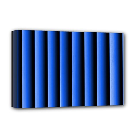 Blue Lines Background Deluxe Canvas 18  X 12