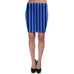 Blue Lines Background Bodycon Skirt
