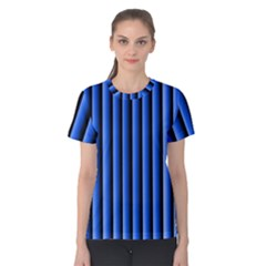 Blue Lines Background Women s Cotton Tee