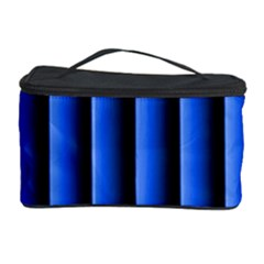 Blue Lines Background Cosmetic Storage Case