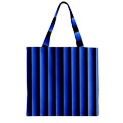 Blue Lines Background Zipper Grocery Tote Bag