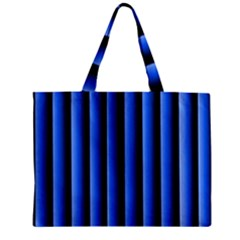 Blue Lines Background Zipper Mini Tote Bag