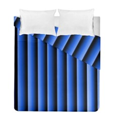 Blue Lines Background Duvet Cover Double Side (full/ Double Size)
