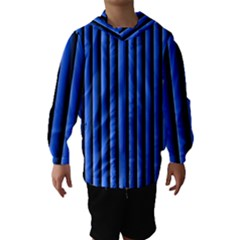 Blue Lines Background Hooded Wind Breaker (kids)