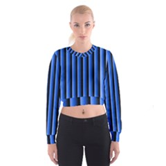 Blue Lines Background Women s Cropped Sweatshirt