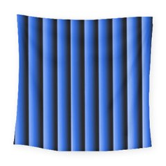 Blue Lines Background Square Tapestry (large)