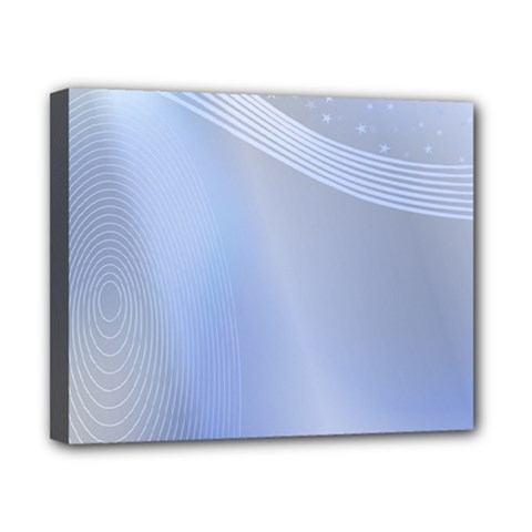 Blue Star Background Canvas 10  X 8