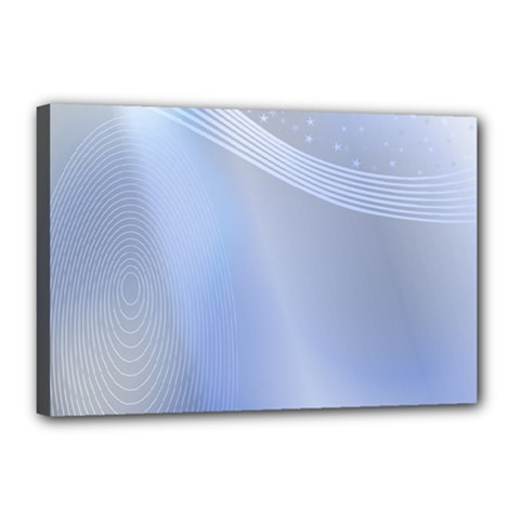 Blue Star Background Canvas 18  X 12