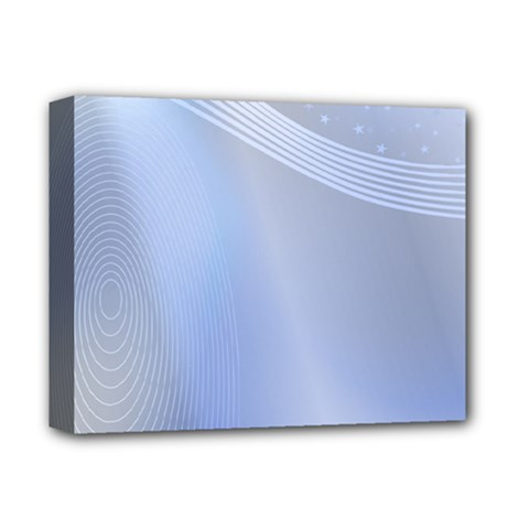 Blue Star Background Deluxe Canvas 14  X 11
