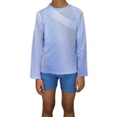 Blue Star Background Kids  Long Sleeve Swimwear