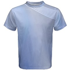 Blue Star Background Men s Cotton Tee
