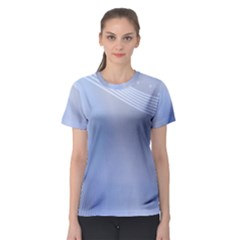 Blue Star Background Women s Sport Mesh Tee