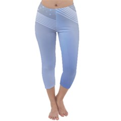 Blue Star Background Capri Winter Leggings