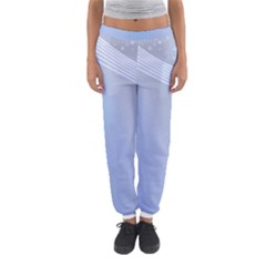 Blue Star Background Women s Jogger Sweatpants