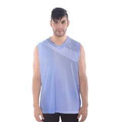 Blue Star Background Men s Basketball Tank Top
