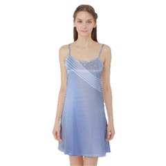 Blue Star Background Satin Night Slip