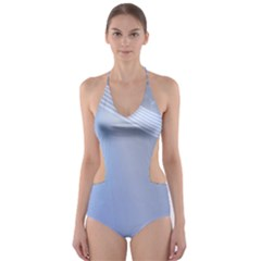 Blue Star Background Cut Out One Piece Swimsuit