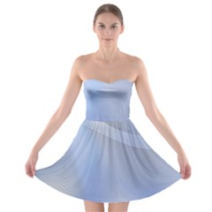 Blue Star Background Strapless Bra Top Dress