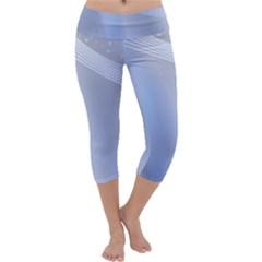 Blue Star Background Capri Yoga Leggings