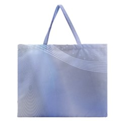 Blue Star Background Zipper Large Tote Bag
