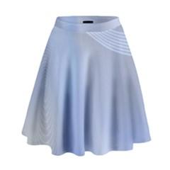 Blue Star Background High Waist Skirt