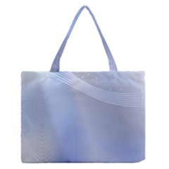 Blue Star Background Medium Zipper Tote Bag