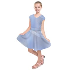 Blue Star Background Kids  Short Sleeve Dress