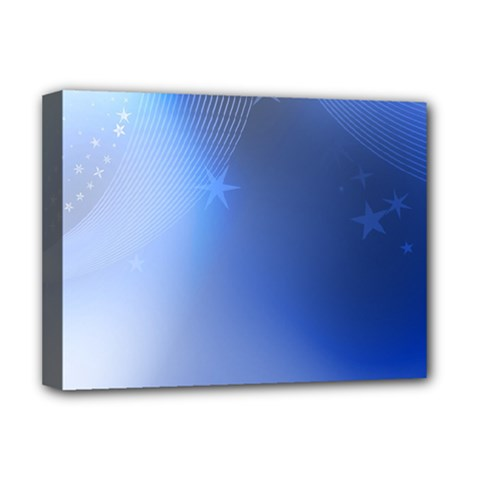 Blue Star Background Deluxe Canvas 16  X 12