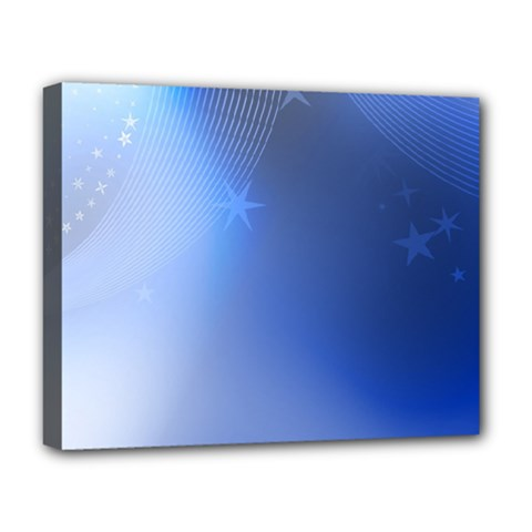 Blue Star Background Deluxe Canvas 20  X 16