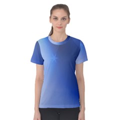 Blue Star Background Women s Cotton Tee