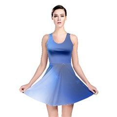 Blue Star Background Reversible Skater Dress