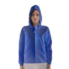 Blue Star Background Hooded Wind Breaker (women)