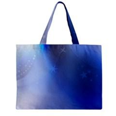 Blue Star Background Zipper Mini Tote Bag