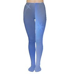 Blue Star Background Women s Tights