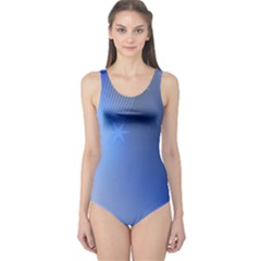 Blue Star Background One Piece Swimsuit
