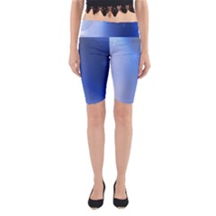 Blue Star Background Yoga Cropped Leggings