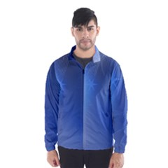 Blue Star Background Wind Breaker (men)