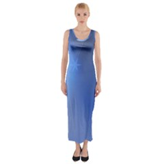Blue Star Background Fitted Maxi Dress