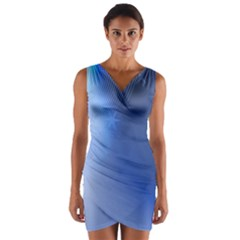 Blue Star Background Wrap Front Bodycon Dress