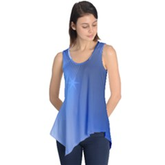 Blue Star Background Sleeveless Tunic