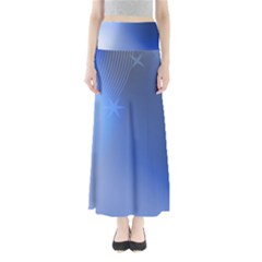 Blue Star Background Maxi Skirts