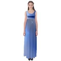Blue Star Background Empire Waist Maxi Dress