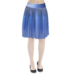 Blue Star Background Pleated Skirt