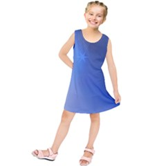Blue Star Background Kids  Tunic Dress