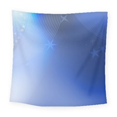 Blue Star Background Square Tapestry (large)