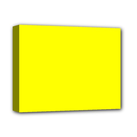 Yellow Color Deluxe Canvas 14  X 11