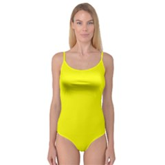 Yellow Color Camisole Leotard