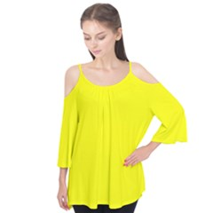 Yellow Color Flutter Tees