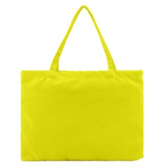 Yellow Color Medium Zipper Tote Bag