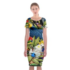 Animals Bird Classic Short Sleeve Midi Dress